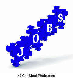 Jobs Means Work Profession Employment And Vocation - Jobs...