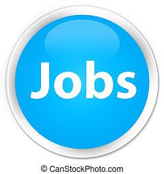 Jobs premium cyan blue round button