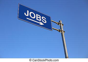 Jobs Road Sign