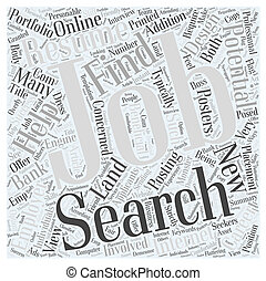 Jobs Search  Finding Success Landing A New Career Word Cloud Concept