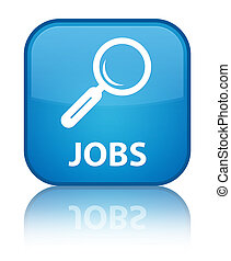Jobs special cyan blue square button