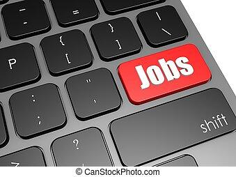 Jobs with black keyboard