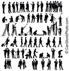 Jobs.eps - Businessmen and craftsmen