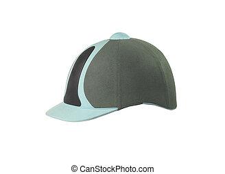 Jockey hat isolated on white
