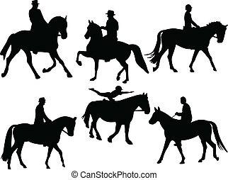 Jockey silhouette