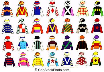 Jockey Uniforms - Jockey uniform designs. 28 fine and...