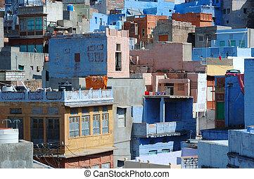 jodhpur, -, blaues, stadt, größten, stadt, in, rajasthan