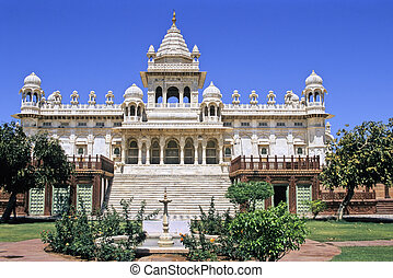 Jodhpur memorial - Sumptuous mogul style white marble...