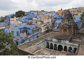 "jodhpur, techos, india, city"", estado, rajasthan, ""blue"