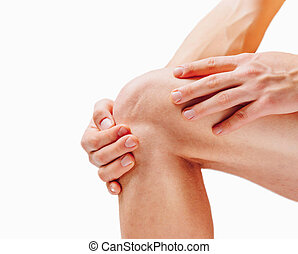 joelho, dor, conjunto