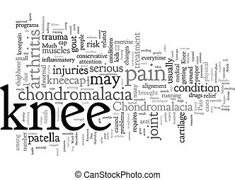joelho, texto, fundo, wordcloud, dor, chondromalacia, conceito