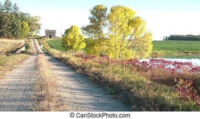 Jog in Autumn Landscape