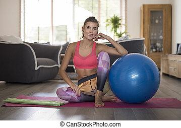 joga, gleichfalls, mein, liebling, freizeit- tätigkeit