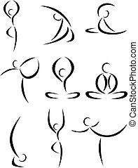 joga, kunst, symbol