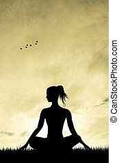 joga, silhouette