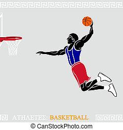 jogador, atleta, basquetebol