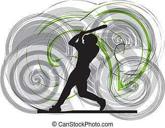 jogador basebol, ação