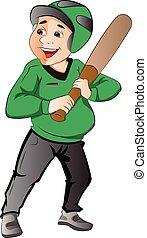 jogador basebol, ilustração
