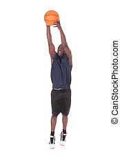 jogador, basquetebol, africano