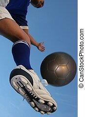 jogador, bola futebol