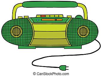 jogador cassete rádio