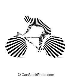 jogador, ciclismo, desenho