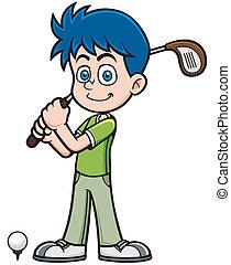 jogador, golfe