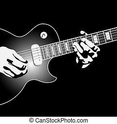 jogador, guitarra