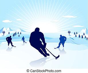 jogador, ice-hockey