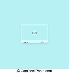 jogador, vetorial, vídeo, teia, ilustração