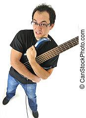 jogador violão, atitude