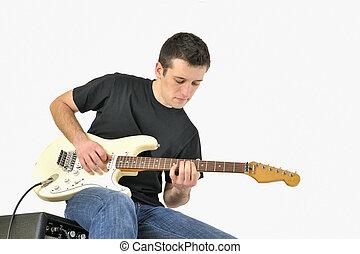 jogador violão, jovem