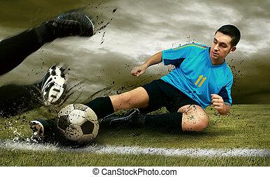 jogadores, campo futebol