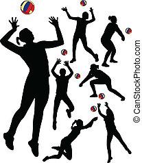 jogadores, voleibol