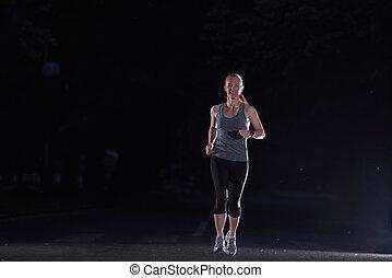 jogge, kvinde