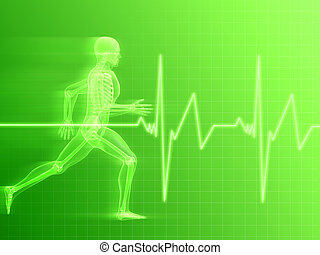 jogger - 3d rendered illustration of a run ning man and...