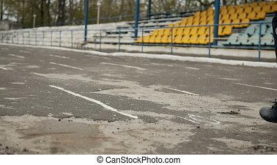 Jogger at the Stadium