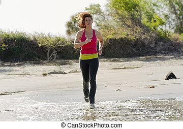 jogger, brünett, fitness