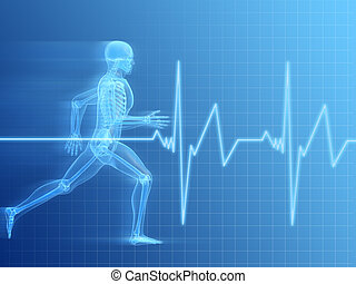 jogger - 3d rendered illustration of a running man with...