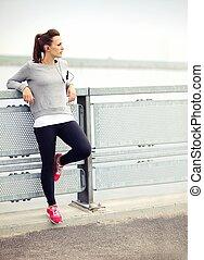 jogger, descansar, femininas
