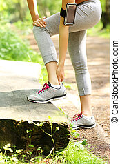 Jogger having problems with ankle - A picture of a jogger...