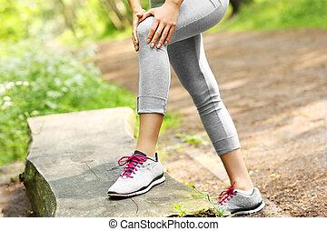 jogger, knie, schaden