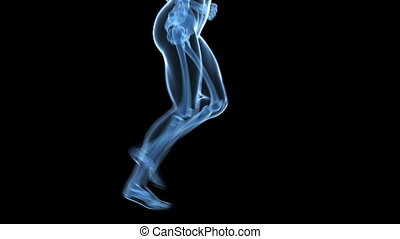 Jogger - legs - edical 3d animation of a running male - scan...