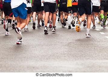 Jogger - Marathons, jogging on the street
