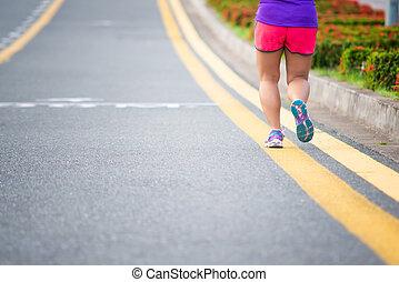 jogger, rennender