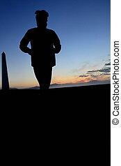 jogger, silhouette