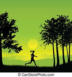 joggeur, femme