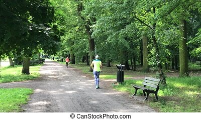 joggeur, jeune, femme