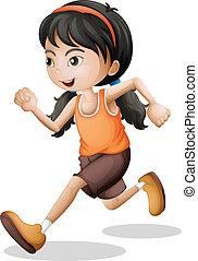 jogging, adolescente