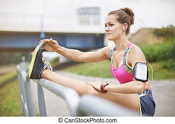 Jogging alfresco is a very big pleasure